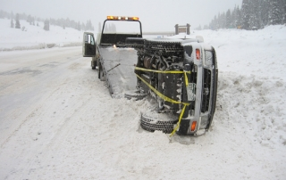 Winter accident towing Vail