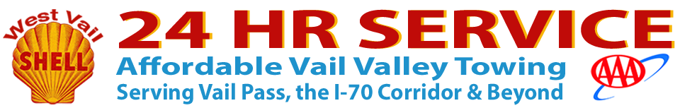 West Vail Shell – 24 HR SERVICE Logo