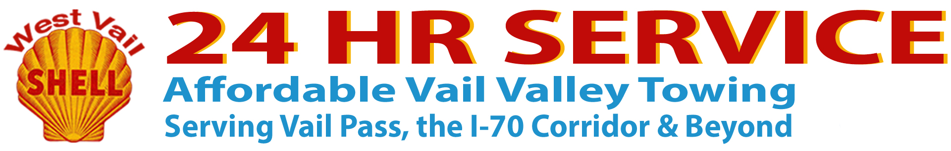 West Vail Shell – 24 HR SERVICE Logo
