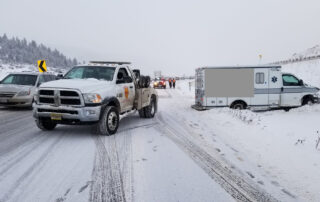 West Vail Shell towing on Vail Pass